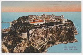 Alte Postkarte MONACO - La Ville, Le Rocher, Frankreich 1928