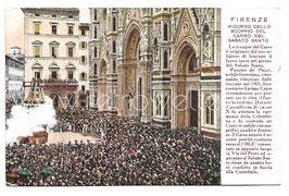 Alte Foto Postkarte FIRENZE - RICORDO DELLO SCOPPIO DEL CARRO DEL SABATO SANTO, Italien um 1920