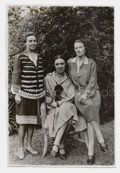 Alte Fotografie DREI ELEGANTE DAMEN IN 20er JAHRE KLEIDUNG