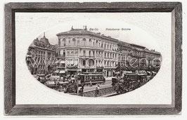 Alte Passepartout Foto Postkarte BERLIN   Straßenbahnen auf der Potsdamer Brücke, 1912