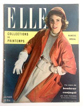 ELLE französische vintage Modezeitschrift Modemagazin - Collections Printemps 1950 Heft Nr. 224