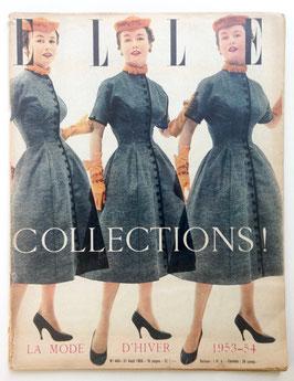 ELLE französische vintage Modezeitschrift Modemagazin - La Mode d'Hiver 1953-54