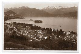 Alte Foto Postkarte LAGO MAGGIORE STRESA BORROMEO - Panorama 1939