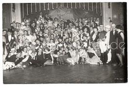 Alte Fotografie Postkarte Gruppenbild FASCHING Studenten mit Karnevalskostümen verkleidet,  Bayreuth 1920er Jahre