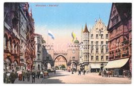 Alte Postkarte MÜNCHEN Karlstor um 1900