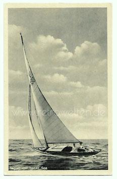 Alte Foto Postkarte GRUSS VON BANSIN - Segler auf hoher See, Segelboot