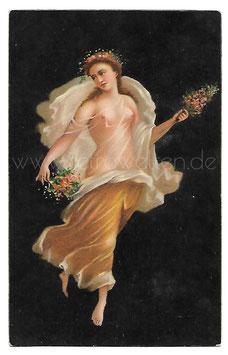 Alte Postkarte FLORA Römische Tänzerin aus Pompeji