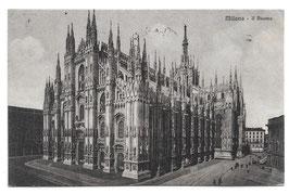 Alte Foto Postkarte MILANO - Piazza Duomo mit Dom, Italien 1927