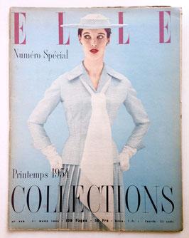 ELLE französische vintage Modezeitschrift Modemagazin - Collections Printemps 1954  Heft Nr. 429
