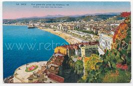 Alte Foto Postkarte NICE NIZZA - Vue générale prise du Château, Frankreich 1928