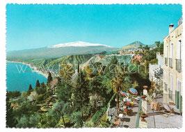 Alte Foto Postkarte TAORMINA Hotel Villa Belvedere - 1950er Jahre