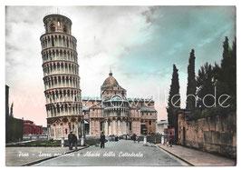 Alte Foto Postkarte PISA - Schiefer Turm und Kathedrale, 1957