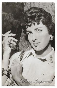 Alte Fotografie Porträt DIE ITALIENISCHE SCHAUSPIELERIN SILVANA PAMPANINI, Italien 60er Jahre