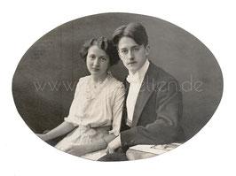 Alte Fotografie JUNGES PAAR UM 1910
