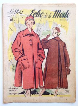 LE PETIT ECHO DE LA MODE alte Modezeitschrift  Frauenzeitschrift - Heft Nr. 10 September 1949