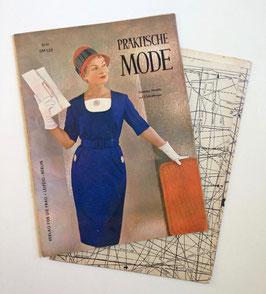 PRAKTISCHE MODE Vintage Nähzeitschrift Modezeitschrift Modemagazin mit Schnittmusterbögen - März 1961
