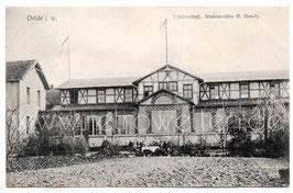 Alte Postkarte OELDE i. WESTFALEN Schützenhof, Restauration H. Runde - 1907