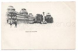 Alte Foto Postkarte PARIS - Cour du Louvre