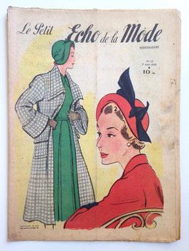 LE PETIT ECHO DE LA MODE alte Modezeitschrift Frauenzeitschrift -  Heft Nr. 32 August 1949