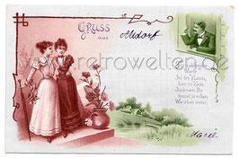 Alte Lithografie Künstler Postkarte GRUSS AUS ALTDORF bei Nürnberg - 1900