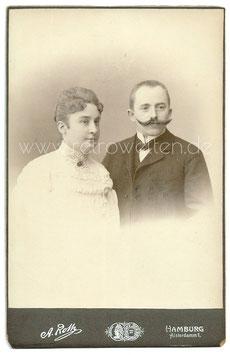 Kabinett Fotografie PORTRAIT EINES EHEPAARES, Hamburg um 1900