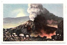 Alte Künstler Postkarte NEAPEL NAPOLI  Vesuvio in eruzione, Italien