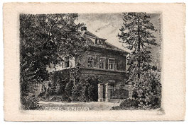 Alte  Postkarte WEIMAR Liszthaus