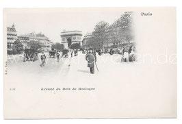 Alte Foto Postkarte PARIS - Avenue du Bois de Boulogne mit Pferdekutschen