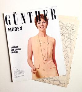 GÜNTHER MODEN  Vintage Nähzeitschrift Modezeitschrift Modemagazin mit Schnittmustern - April 1971