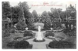 Alte Postkarte BREMEN Bürgerpark - Garten der Meierei mit Brunnengruppe, 1900