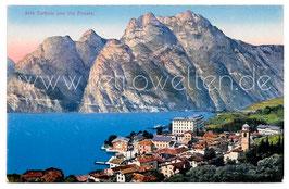 Alte Foto Postkarte LAGO DI GARDA  - TORBOLE con Via Ponale - um 1920