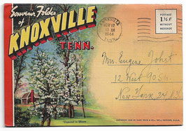 Altes Postkarten Leporello SOUVENIR FOLDER OF KNOXVILLE - TENNESSEE,  USA  1944
