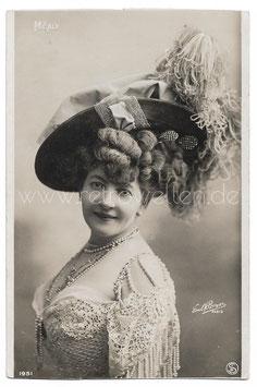 Alte Foto Postkarte SCHAUSPIELERIN UND SÄNGERIN JULIETTE MÉALY um 1900