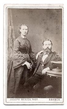 Alte CDV Fotografie ELEGANTES EHEPAAR, Mode 1873