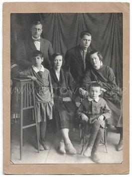 Alte Fotografie PORTRAIT EINER FAMILIE, 1920er Jahre