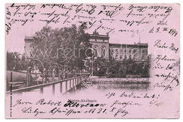 Alte Postkarte KIEL Marine-Akademie 1899
