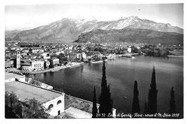 Alte Foto Postkarte LAGO DI GARDA  - RIVA verso il Monte Stivo