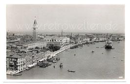 Alte Foto Postkarte VENEDIG VENEZIA  Hafen mit Dogenpalast