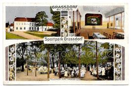 Alte Postkarte GRASSDORF bei Leipzig - Sportpark Grasdorf - 1919