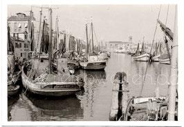 Alte Fotografie VENEDIG-CHIOGGIA Fischerboote am Kanal, Italien 1960er Jahre