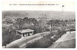 Alte Foto Postkarte PARIS - Panorama pris di Sacré-Coeur de Montmartre, 1940