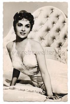 Alte Foto-Postkarte Portrait der italienischen SCHAUSPIELERIN GINA LOLLOBRIGIDA 1954