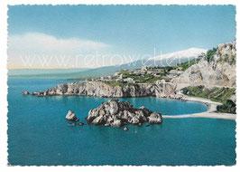 Alte Foto Postkarte TAORMINA Isola Belle e Capo Taormina - 1950er Jahre
