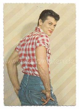 Alte Fotografie Postkarte SCHAUSPIELER TONY CURTIS 1950er Jahre