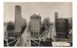 Alte Postkarte DETROIT Grand Circus Park und Hotel Statler - 1930er Jahre
