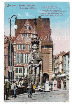 Alte Postkarte BREMEN Roland, der Riese 1902