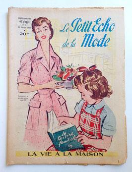 LE PETIT ECHO DE LA MODE alte Modezeitschrift Frauenzeitschrift - Heft Nr. 7  Februar 1953