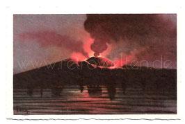 Alte Künstler Postkarte NEAPEL NAPOLI  Vesuvio di notte, Italien