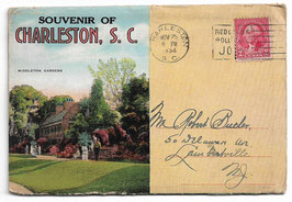 Altes Postkarten Leporello SOUVENIR OF CHARLESTON - SOUTH CAROLINA, USA 1934