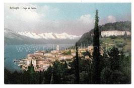 Alte Postkarte LAGO DI COMO Panorama von Bellagio